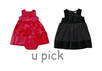 9902326250ff CARTERS RED SATIN Bow Dress 6-9 Month Baby Girl Holiday Party ...