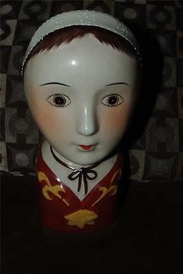 Beautiful Childs Head Pottery Vase Mid-Century Modern Different LOOK!!2