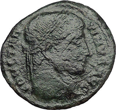 Constantine I the Great 326AD Ancient  Roman Coin Military camp Bivouac i32794
