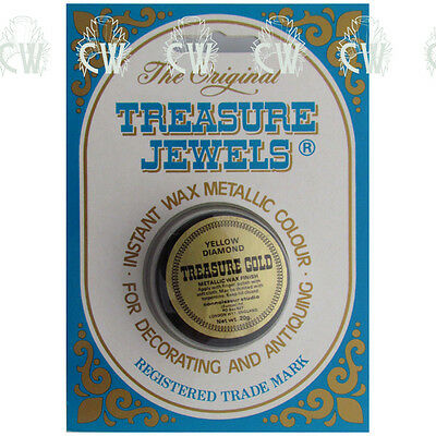 Treasure Jewels Metallic Gilding Wax 20gm YELLOW DIAMOND. Rich Lustrous Wax
