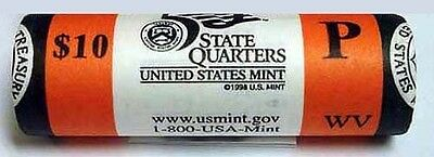 2005 P West Virginia Mint Wrapped State Quarter Roll - WV - US Mint