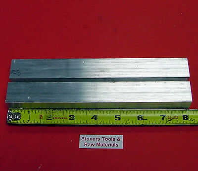 "2 Pieces 1"" X 1"" ALUMINUM 6061 T6511 SQUARE FLAT BAR 8"" long 1.00 New Mill Stock"