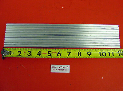 "10 pieces 1/4"" ALUMINUM 6061 T6511 ROUND SOLID ROD 12"" long .25"" Lathe Stock"