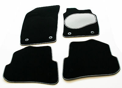 Heel Pad Perfect Fit Black Carpet Car Floor Mats for Ford Mondeo MK3 00-06