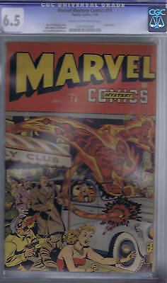 Marvel Mystery Comics #74 Timely 1946 CGC 6.5 (FINE +) Schomburg cover