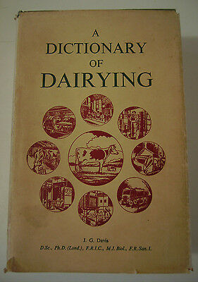 Vintage DAIRYING, A DICTIONARY OF - 1955  h/c d/j Farming Agriculture Reference