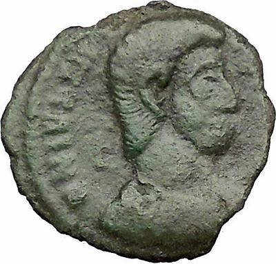 JULIAN II as Caesar in military dress  w Globe 355AD Ancient Roman Coin i32840
