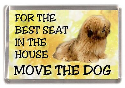 "Lhasa Apso Fridge Magnet No.1  ""For the Best Seat in the House...."" by Starprint"