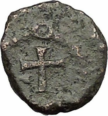 THEODOSIUS II 425AD  Ancient Roman Coin Cross within wreath of success  i32892