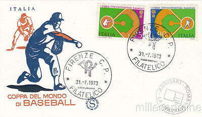 * SPORT - Baseball World Cup, Firenze Italy - First Day Cover 1973