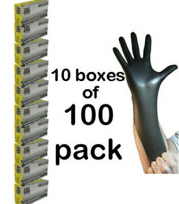 Nitrile Heavy Duty Protective Gloves Mechanics Painting Spraying SMALL x1,000