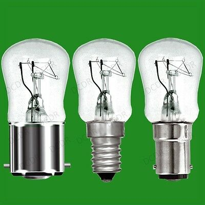 4x 25W Dimmable Clear Pygmy Light Bulbs, BC, B22, SBC, B15d or SES, E14 Lamps