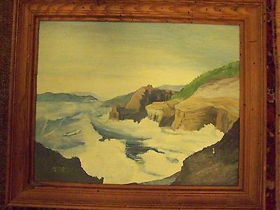 IMPORTANT?  VERY NICE  20th CENTURY AMERICAN  SEASCAPE- SIGNED 1953 OIL PAINTING