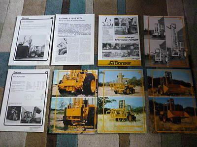 BONSOR FORKLIFTS 8 SHEETS BROCHURES - ATTATCHMENTS jm