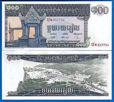 Cambodia P-12 100 Riel Year 1963-1972  AU-Uncirculated FREE SHIPPING