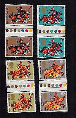 Stamps 1974 Britons Gutter Pair Traffic Light Unfolded Mnh Sg 958 - 961