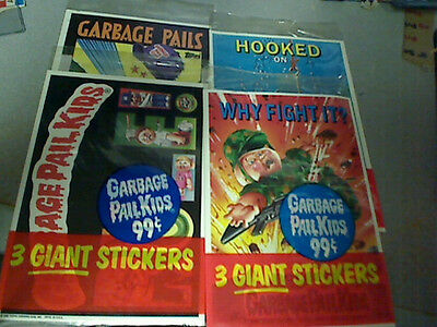 (12) DIFFERENT 1986 Topps GARBAGE PAIL KIDS Giant Stickers Packs - 12 Packs !!