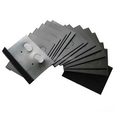 """100pc Black Hanging 2"""" x 1.4"""" Earring Cards Jewelry Display Holder Hang Tags"""