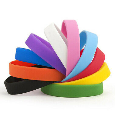 Plain Coloured Silicone Wristbands