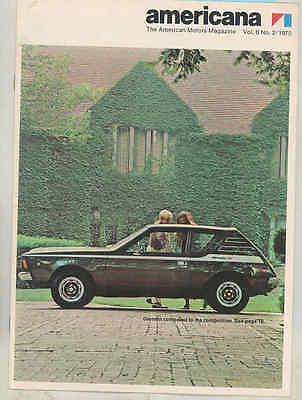 1970 AMC Americana Brochure Gremlin Jeep Baja 500 Mark Donohue Javelin mx7622