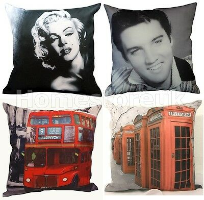 Funky Retro Style Classic Cushion Cover Souvenirs Vintage Photo Picture Printed