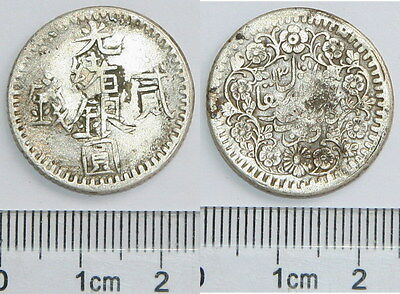 P4004 Sinkiang Silver Coin, 2 Miscals, 1893-1895