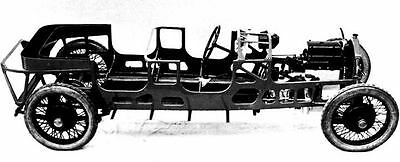 1922 Lancia Lambda Chassis Monocoque Body Factory Photo c120-ID24LK