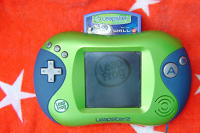 LEAPFROG  Leapster 2 Learning System  Green & Blue with Wall.e Game cartridge