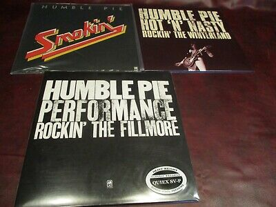 Humble Pie Fillmore Classic Records 200G & Winterland 180G Live + Smokin 5 Lp's