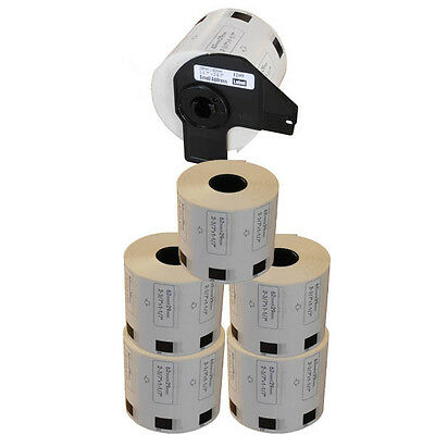 5+1 ROLLS DK11209 DK 11209 BROTHER COMPATIBLE SMALL ADDRESS LABELS 29x62mm