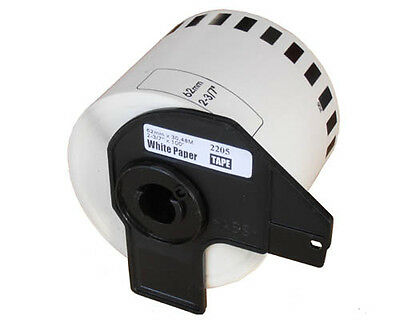 1 ROLL DK22205 DK 22205 BROTHER COMPATIBLE CONTINUOUS LABELS 62mm x 30.48m