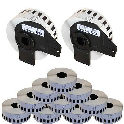 10+2 ROLL DK22210 DK 22210 BROTHER COMPATIBLE CONTINUOUS LABELS 29mm x 30.48m