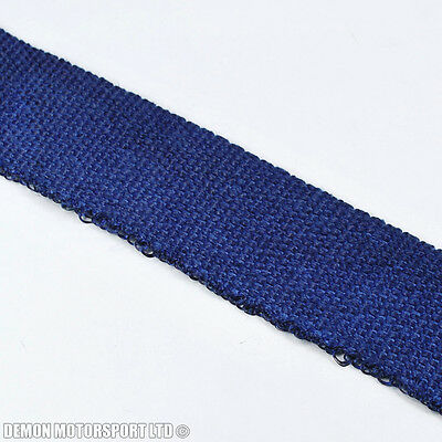 Blue Exhaust Heat Wrap For Manifold Header Downpipe Middle Backbox Decat (1m)