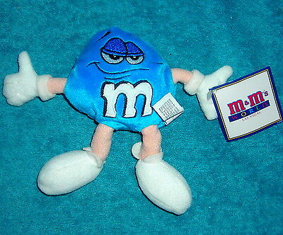 "M&m World Las Vegas Blue 5"" Plush Bean Bag Toy"