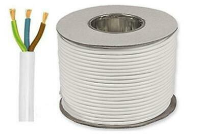 3093YHR White Round Heat Resistant Flexible 3 Core PVC Cable All Lengths & Sizes