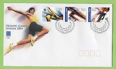 Australia 2004 Olympic games set on First Day Cover