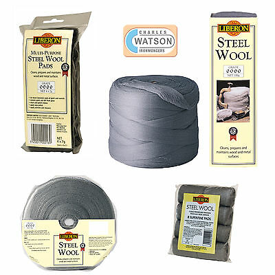 LIBERON High Quality STEEL WIRE WOOL Grade Ultra Fine Super Fine 0 1 2 3 4