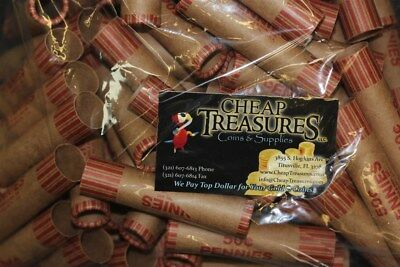 (1000) Cent Penny Nf String Preformed Shotgun Coin Wrappers Wrapping Rolls