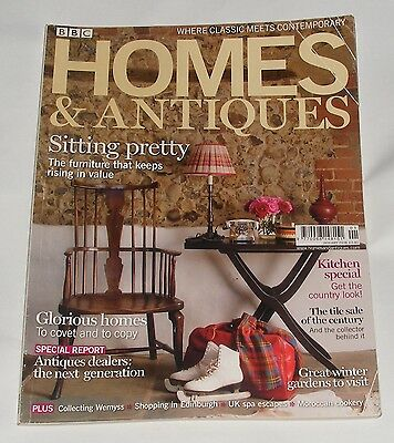 Homes & Antiques Magazine January 2008 - Sitting Pretty/glorious Homes