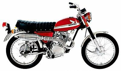 1970 1971 Honda Scrambler 100 CL100 Factory Photo c2981-8XSK3R