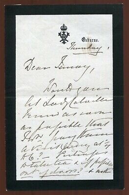 Fine Original Hand Signed Letter Queen Victoria To Lady Southampton Osborne