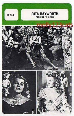 American Actress Dancer Film Star Rita Hayworth French Trade Card
