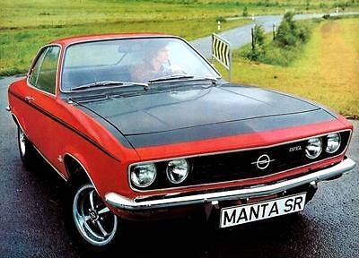 1972 Opel Manta SR Factory Photo c3614-OX1VIS