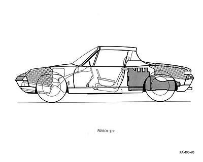 1970 Porsche 914 Factory Photo c3666-1YV4ED
