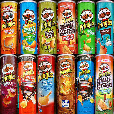 Pringles Super Stack Potato Crisps Chips ~ One Can