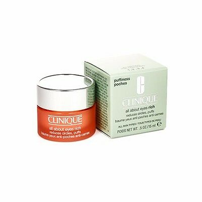 Clinique All About Eye Rich Eye Care Reduce Dark Circles Cream 15ml/0.5oz