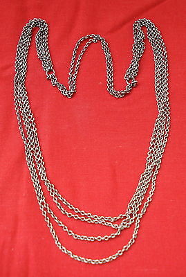 vintage antique collectible tribal old silver chain necklace gypsy jewelry