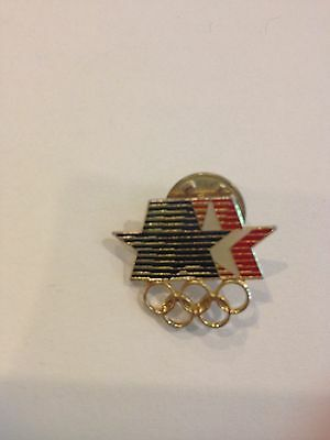 1980 LA OLYMPIC PIN RED, WHITE, AND BLUE STAR