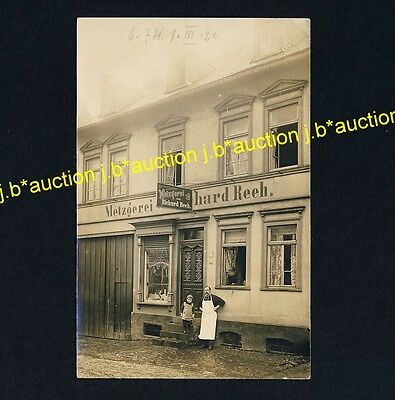 Germany METZGEREI RICHARD REEH Butcher Shop* Foto-AK um 1920 / Real Photo PC