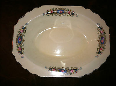 "W. S. GEORGE ""GEO22"" PATTERN LIDO CANARYTONE OBLONG VEGETABLE BOWL 9 3/8"""